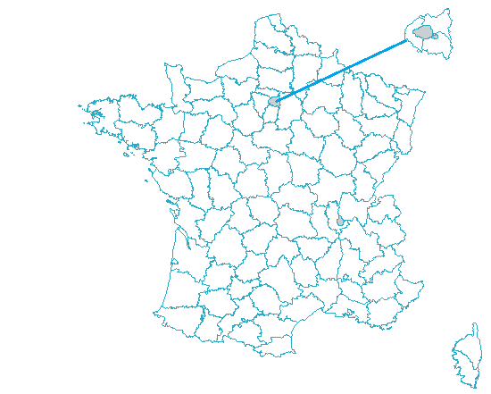 Carte de France par dé�partements